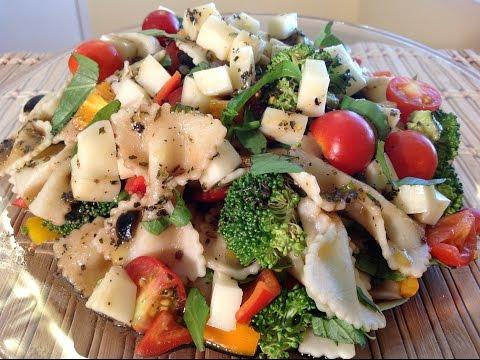 Bow Tie Pasta Salad With Balsamic Vinaigrette Dressing-Italian Food Recipes