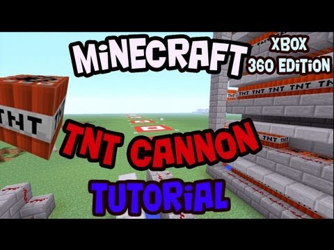 How to Make a Semi Automatic Reloading TNT Cannon Short to Long Range Minecraft Xbox 360 Edition