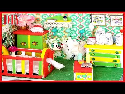 Cute Dollhouse Nursery Diy | How to make Mini Dollhouse Baby room Tutorial