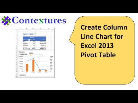 Create Column Line Chart for Excel 2013 Pivot Table