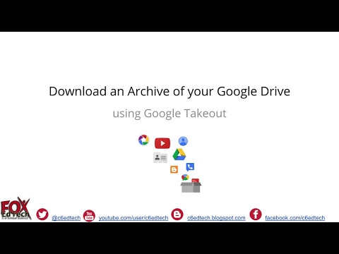 Download Google Drive Data with Google Takeout