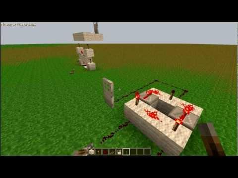 Minecraft 1.8.1 XOR Logic Gate Tutorial