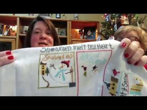 FlossTube #28 - Pam & Steph Dream of a White Christmas