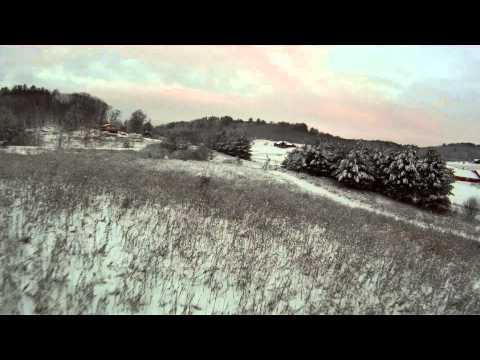 RC Plane Snow Flight
