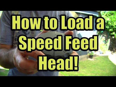 How to Load Speed Feed Trimmer Head with Line (Reloading String on a Speed Feed Head 375)