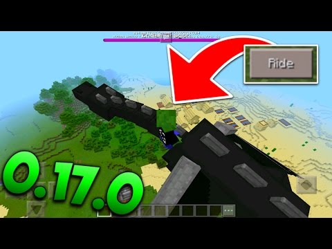 RIDING THE ENDER DRAGON IN MCPE! - 0.17.0 Dragon Ride Addon - Minecraft Pocket Edition
