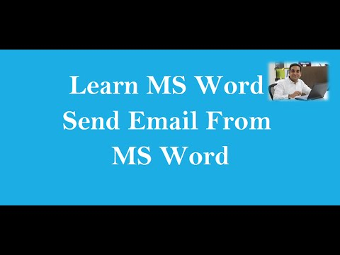 How To Send Email From MS Word Hindi