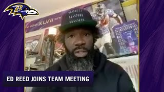 Ed Reed Drops Into Virtual Team Meeting | Baltimore Ravens