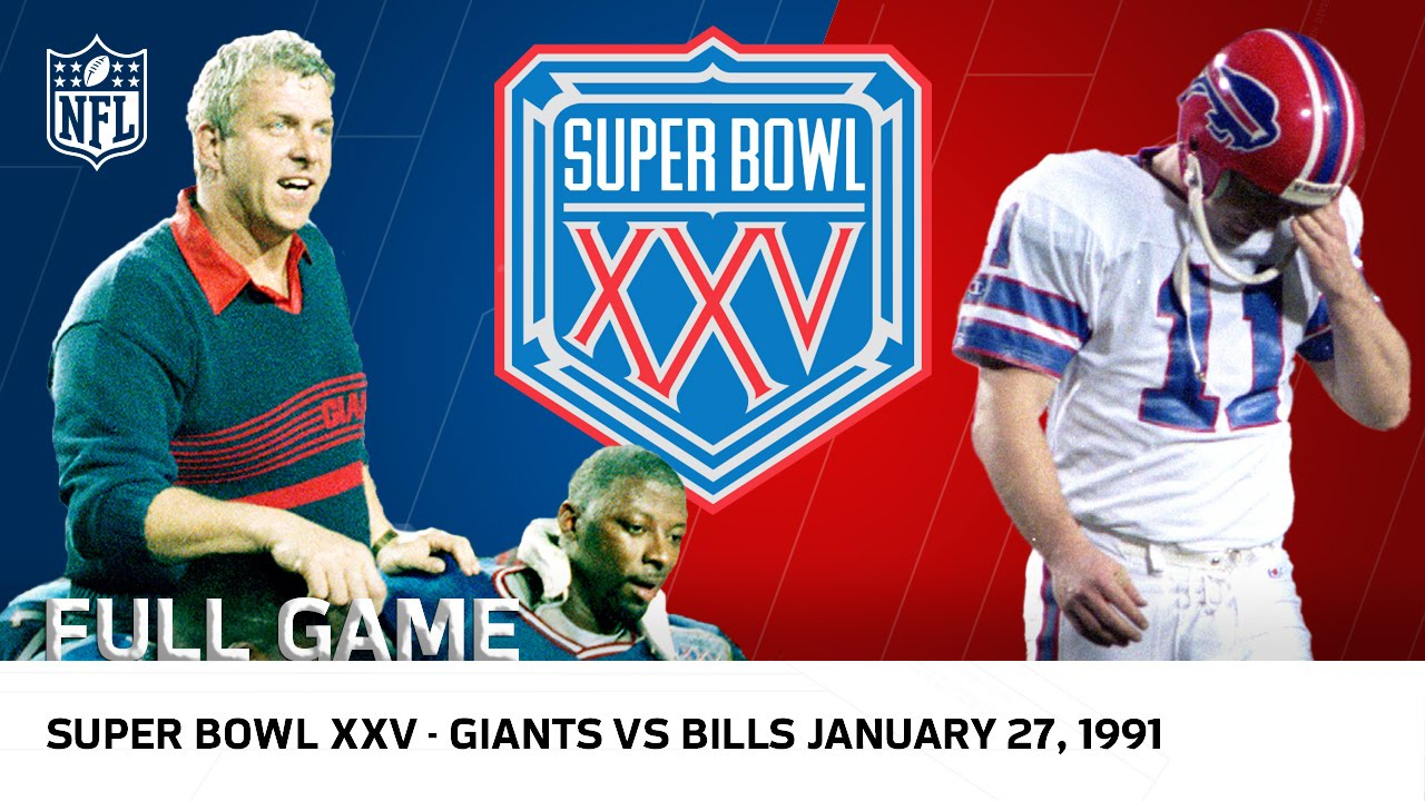 "Super Bowl XXV | Bills vs. Giants ""Wide Right"" | NFL Full Game"