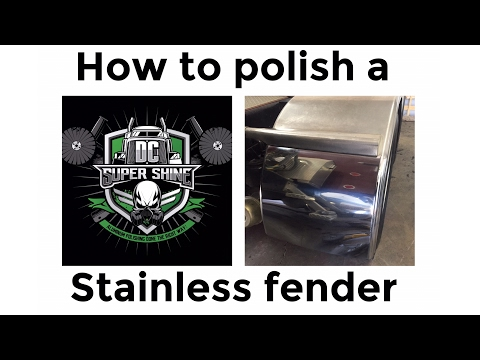How to polish a stainless Fender on a Kenworth