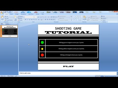 PowerPoint Tutorial (VBA): How to make a Shooting Game