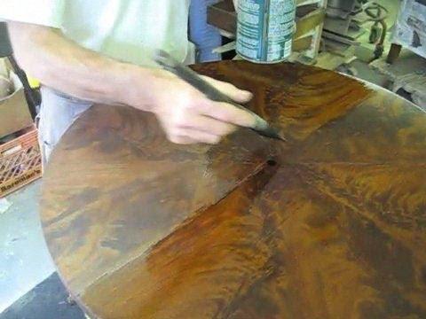 Restoring a Regency Drum Table - Thomas Johnson Antique Furniture Restoration
