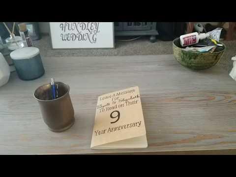 DIY wedding guest book!