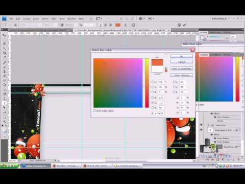 How To Create Cool Facebook Timeline Cover, Twitter and YouTube Channel Background In 10 Minutes