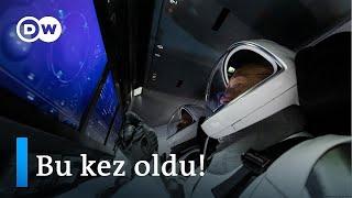 Uzaya tarihi yolculuk: SpaceX uzaya astronot gönderen ilk özel şirket oldu - DW Türkçe