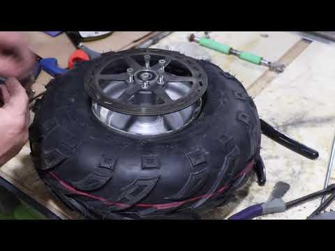 Mini Bike Restoration : Part 2 Wheel Bearings, Tubeless Tires, Brake & Sprocket