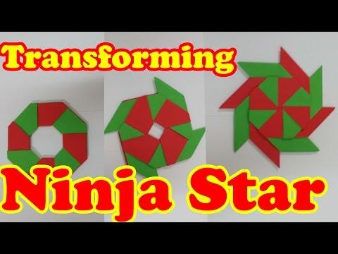 How to Make a Paper Transforming Ninja Star   Super Star