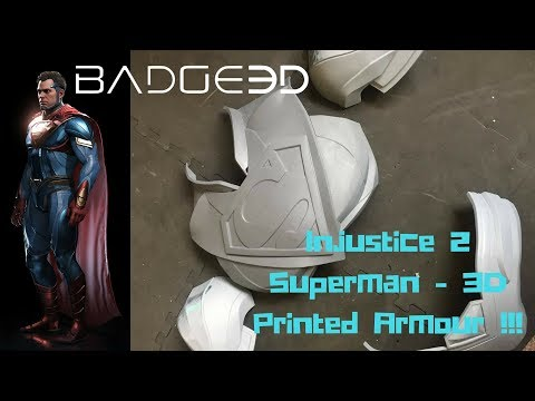 Injustice 2 Superman 3D Printed armour !