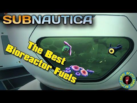 THE BEST BIOREACTOR FUELS & FULL STATS  -  Subnautica Tips & Tricks