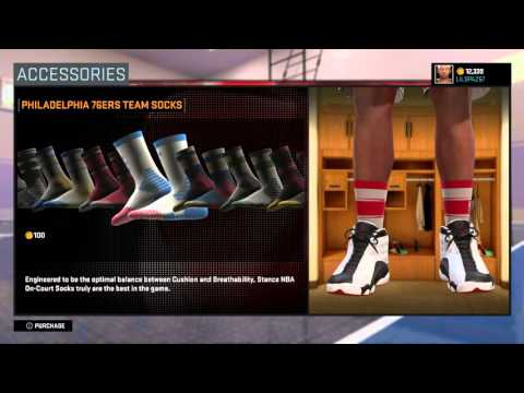 NBA 2K16 STANCE SOCKS | HOW TO FIX THE ARM SLEEVE GLITCH