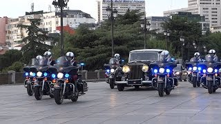 Motorcade (escolta/vip escort) president Mexico and Spanish royal family in Madrid