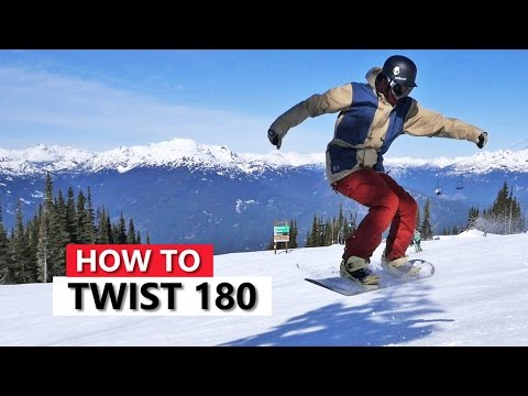 How to Twist 180 on a Snowboard - Snowboarding Tricks
