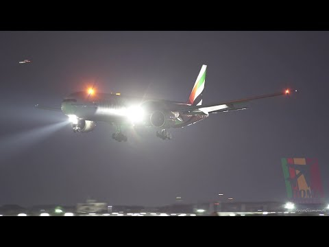 AWESOME Evening landings at Rome Fiumicino Airport - Sony a7s