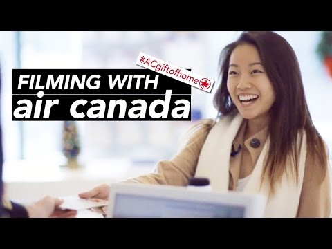 FILMING WITH AIR CANADA #ACgiftofhome | katieshim