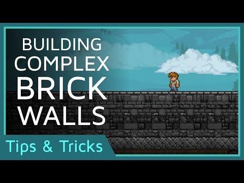 Building Ideas: Complex Brick Walls | Terraria