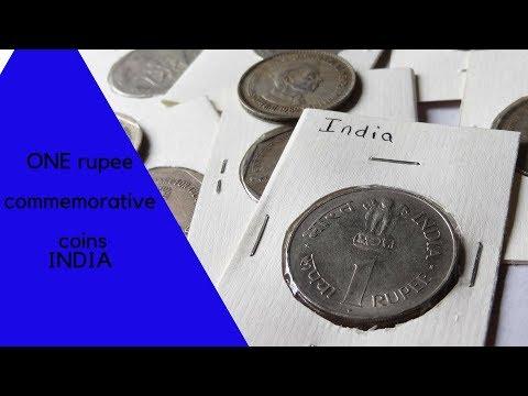 Rare 1rupee commemorative coins INDIA