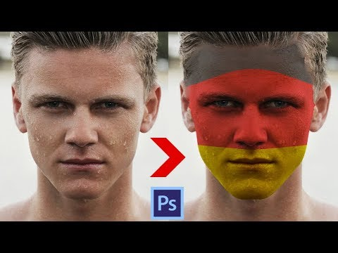 Photoshop Tutorial - FACE PAINT! How to Paint Graphics onto a Face
