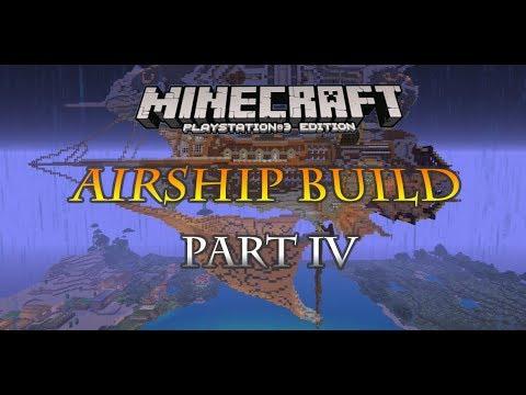 Minecraft PS3 steampunk airship build part 6