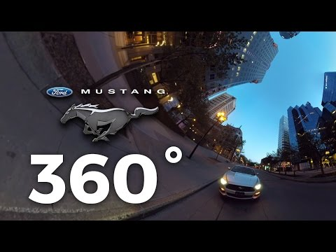 Ford Mustang 360 sight seeing of downtown Montreal