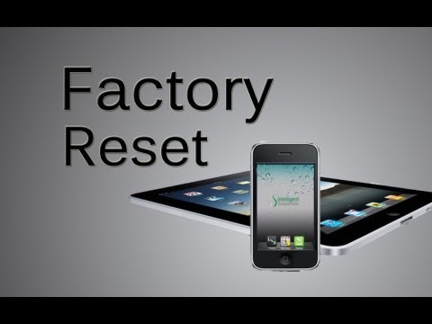 How To Factory Reset, Master Reset, The iPhone, iPad, iPod Touch