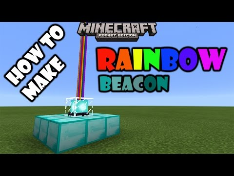 RAINBOW BEACON TUTORIAL | Minecraft PE 0.16.0 Add on Modification