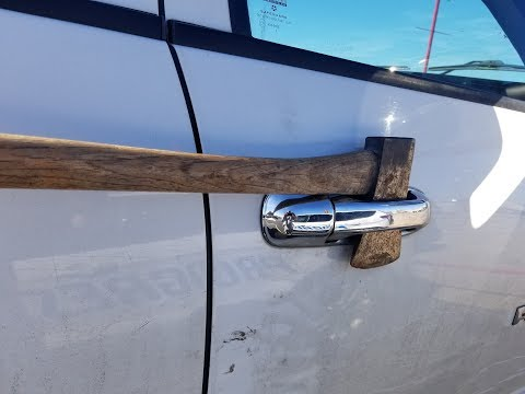 How to unlock your car WITH AN AXE!!!