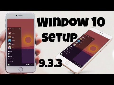 Window 10 Setup in iPhone! Window 10 Style Setup in iPhone & iPad! win10 widget jailbreak Cydia
