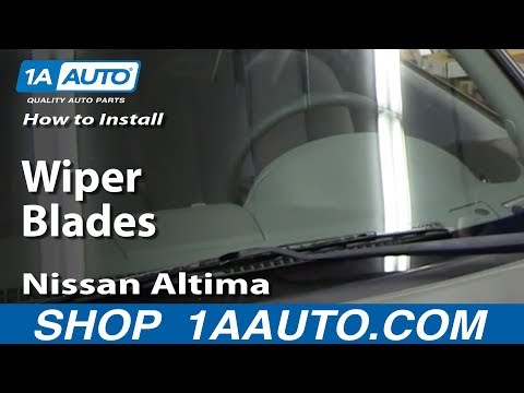 How To Install Replace Wiper Blades 2002-06 Nissan Altima