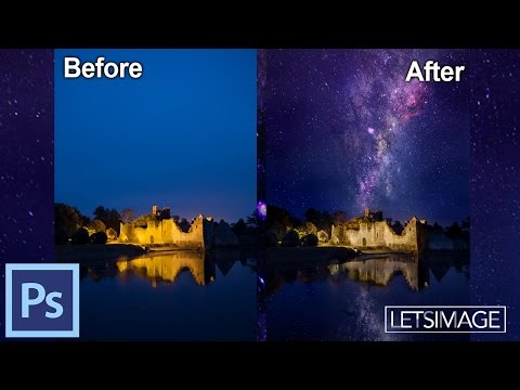How to Add Stars to an Image in Photoshop – Example: Merlins Home | Photoshop Tutorial