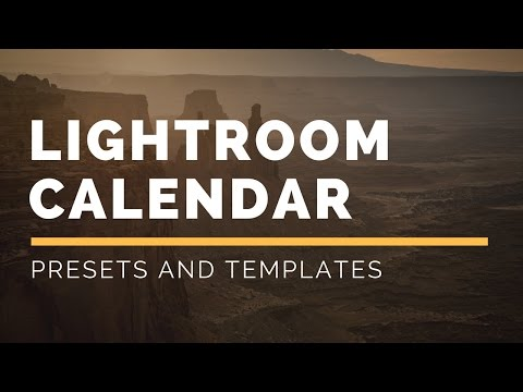 Lightroom Calendar Presets