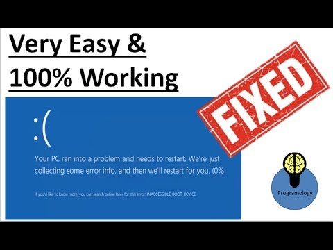 how to fix inaccessible boot device, easy way to fix blue screen on startup