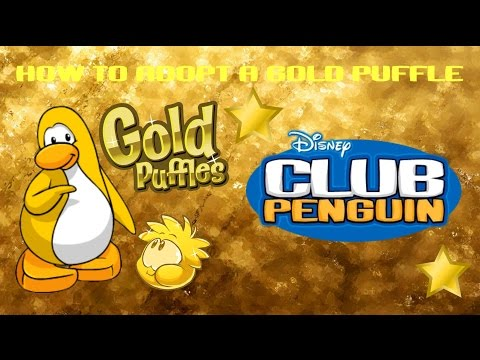 [✔] Club Penguin | How To Adopt A Gold Puffle