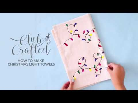 DIY Christmas Light Towels