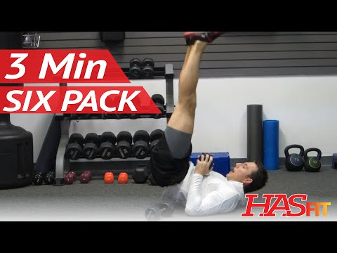 Six Pack in 3 Minutes | 6 Pack Ab Exercises Workout by Coach Kozak | How to get a 6 pack fast!