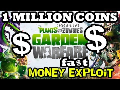 Plants vs. Zombies 250,000 Coins FREE Per Day in Garden Warfare NO HACK! Exploit / Tip / Trick!