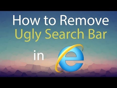 How to Remove Ugly Search Bar from Internet Explorer 11
