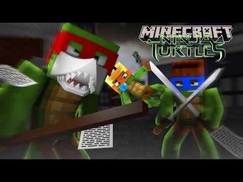 Minecraft - JOINING THE TEENAGE NINJA MUTANT TURTLES!! w/Baby Duck
