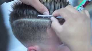 comb over skin fade haircut with part | fade with combover | EZ BLADE SHAVING GEL