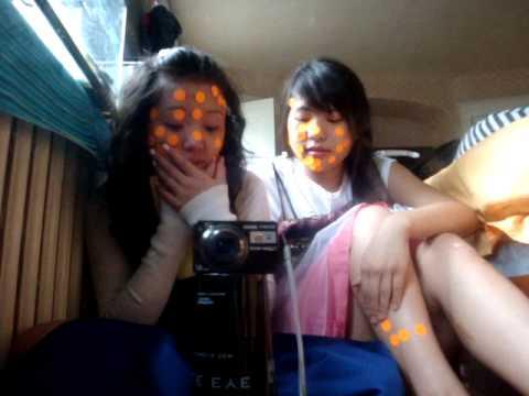 Orange stickers + 2 girls + prom dresses = FUN.