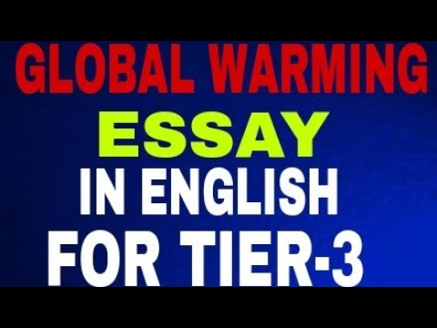 SSC CGL GLOBAL WARMING (ESSAY IN ENGLISH)